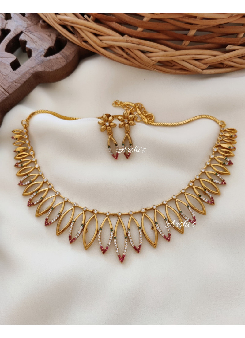 Classic AD Stone Gold Alike Necklace