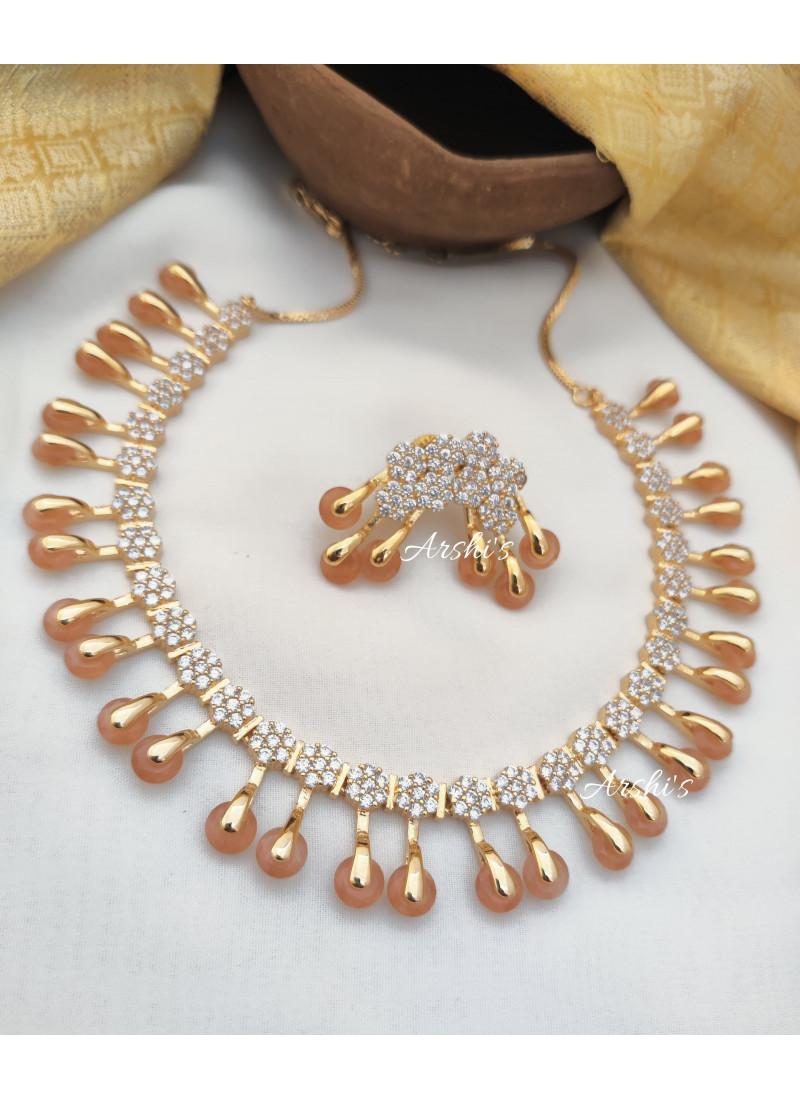 Classic AD Pale Orange Necklace