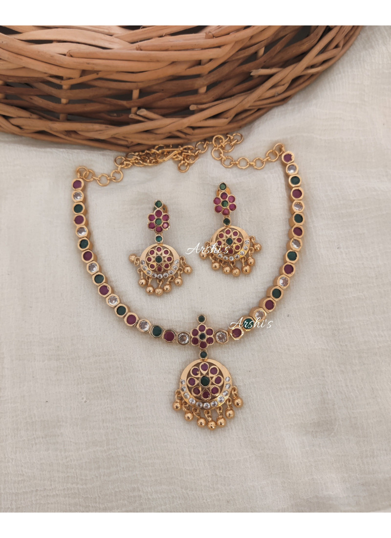 Simple and Elegant Multi Color Necklace