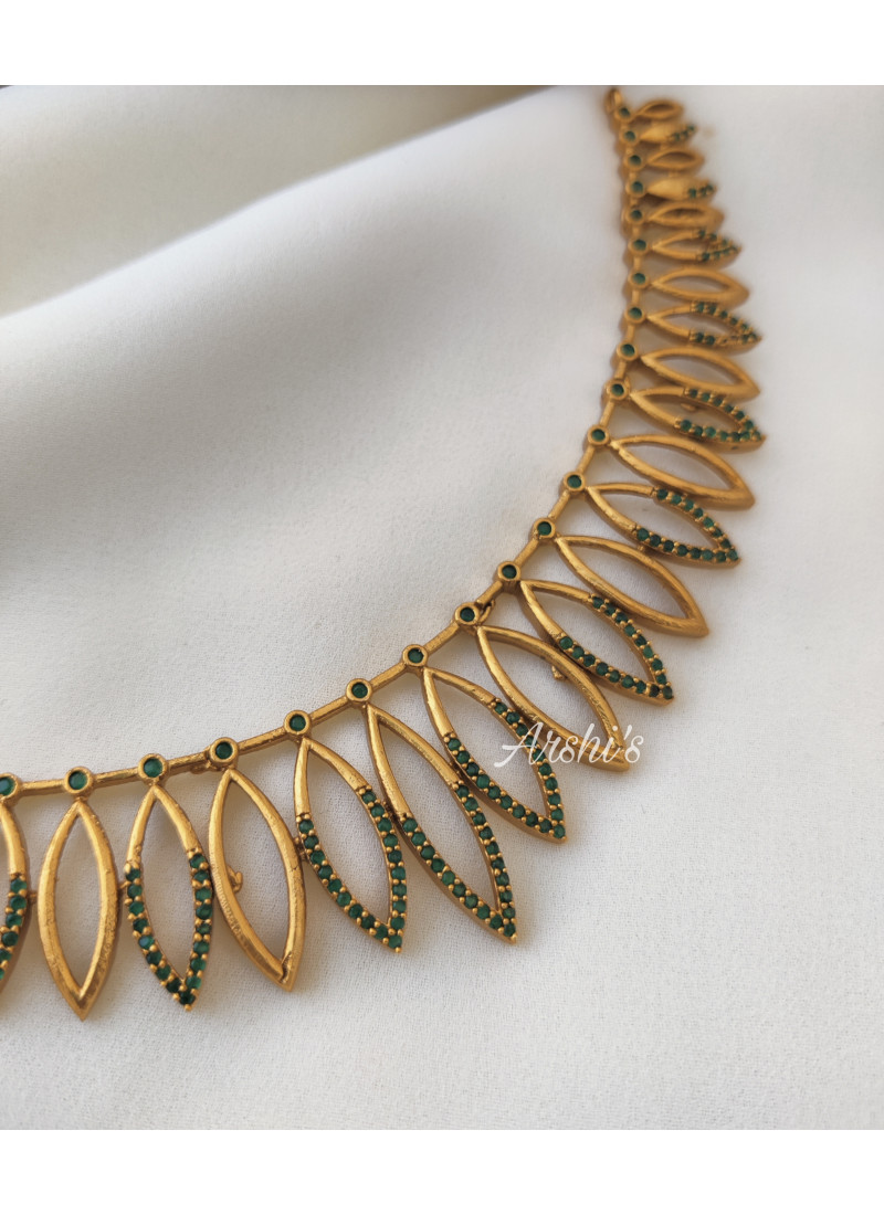 Classic Green AD Stone Necklace