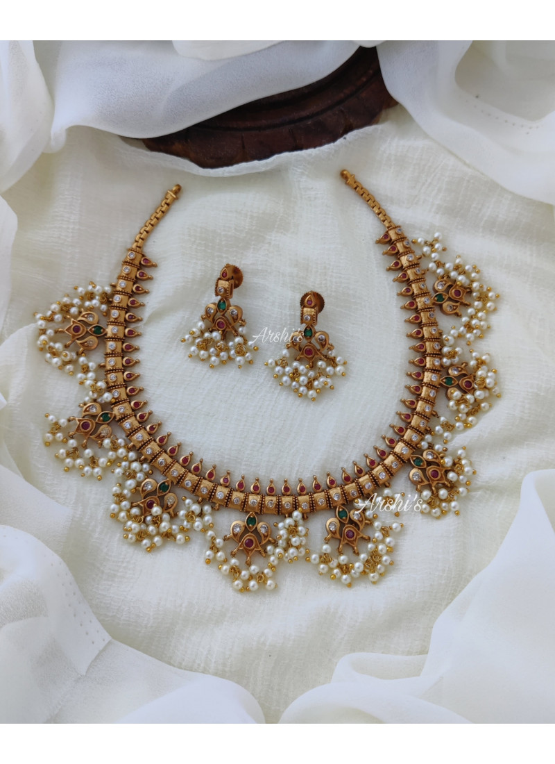 Tremendous Guttapusalu Necklace