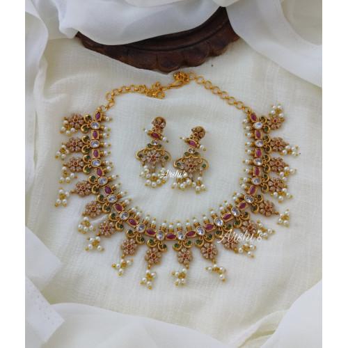 AD Stone Guttapusalu Necklace