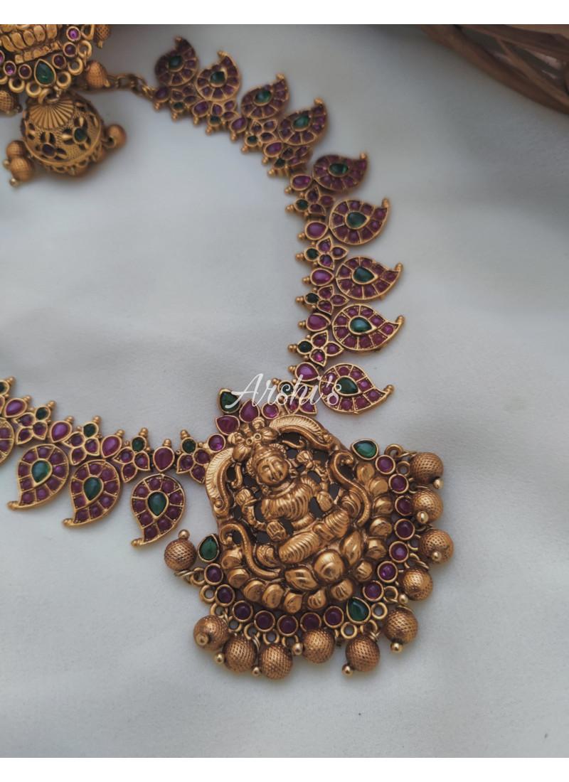 Mango Design Lakshmi Pendant Necklace