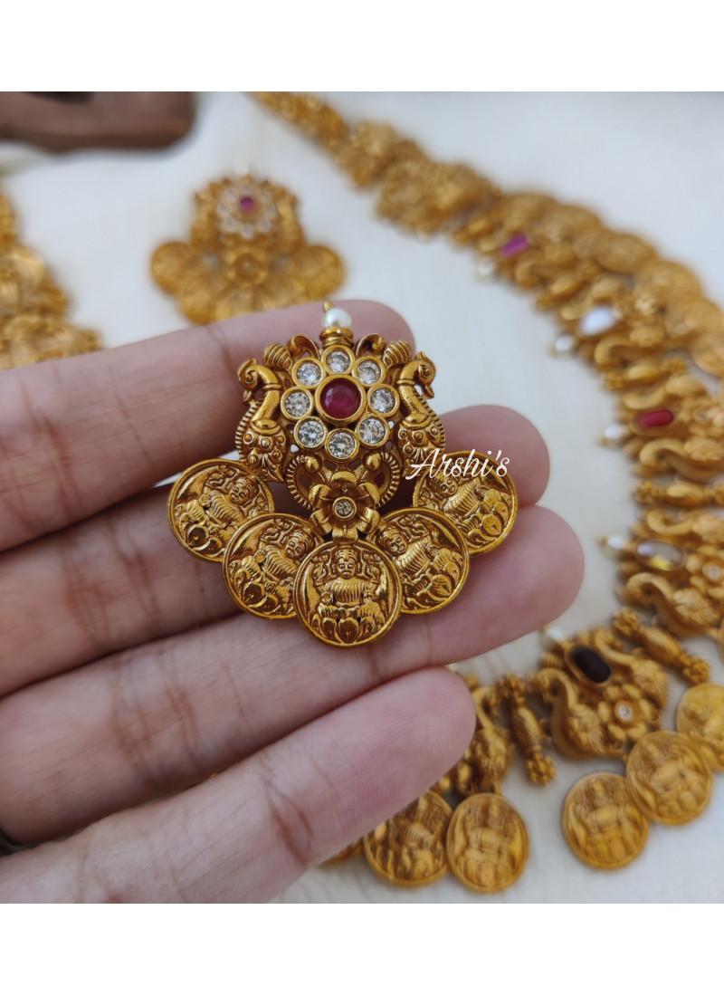 Navarathna Lakshmi Coin Necklace