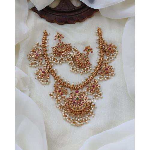 Pure Real Kemp Guttapusalu Necklace