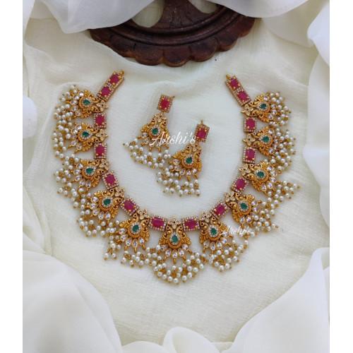 Trendy Bridal Guttapusalu Necklace