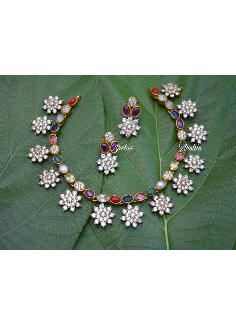 Adorable AD Navarathna Necklace