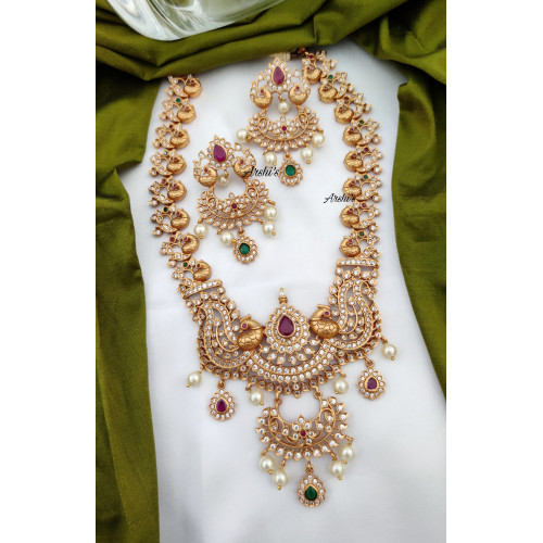 Arshis Grand Bridal AD Stone Necklace