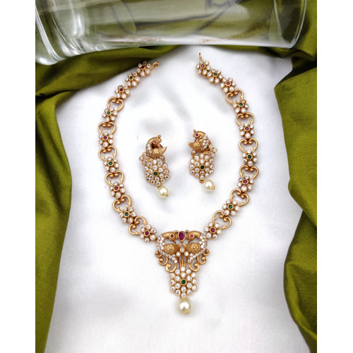Diamond alike Imitation Necklace