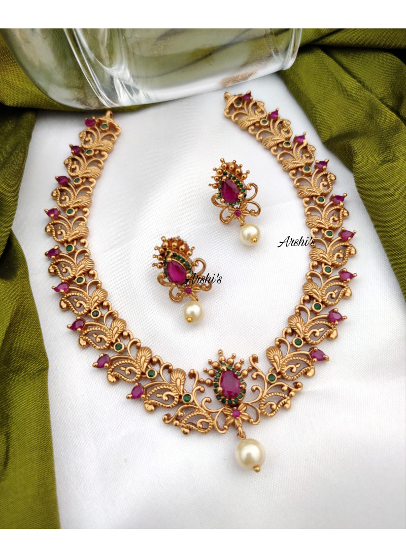 Exclusive AD Matte Mini Necklace