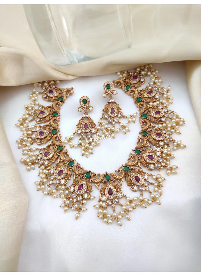 Grand Peacock Guttapusalu Necklace