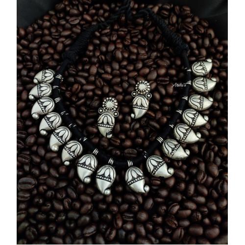 Mango Design German Silver Necklace