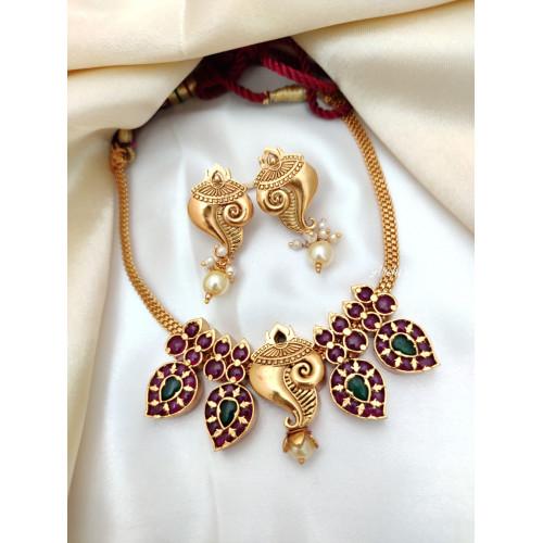 Real Kemp Shangu Design Necklace