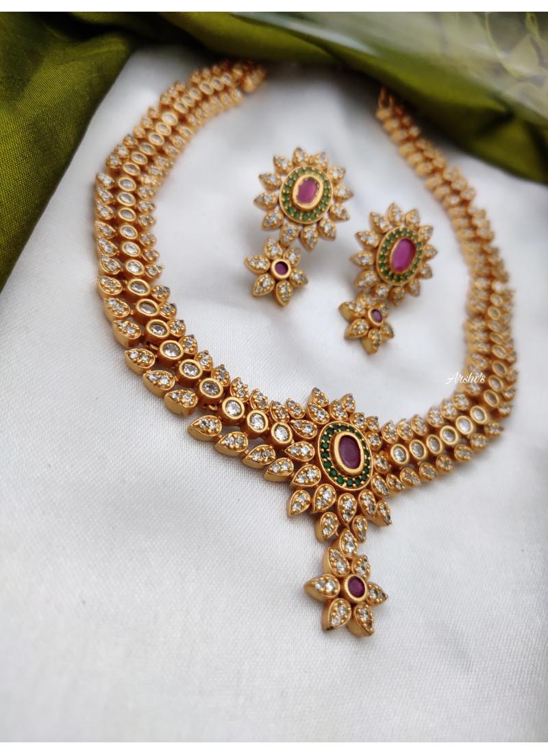 Simple Matte Finish Necklace Set