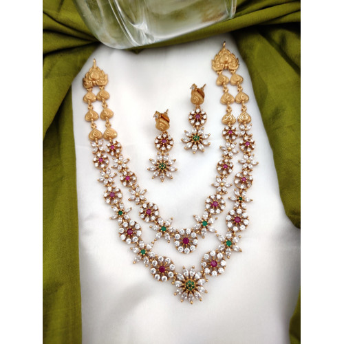 Two Layered AD Stone Necklace