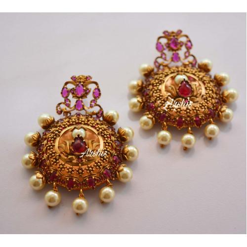 Designer Grand Nagas Ruby Earrings