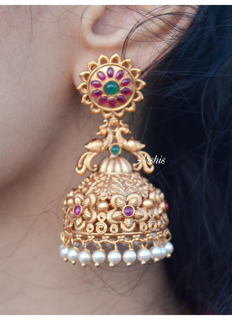 Bridal Wear Temple Long Jhumka