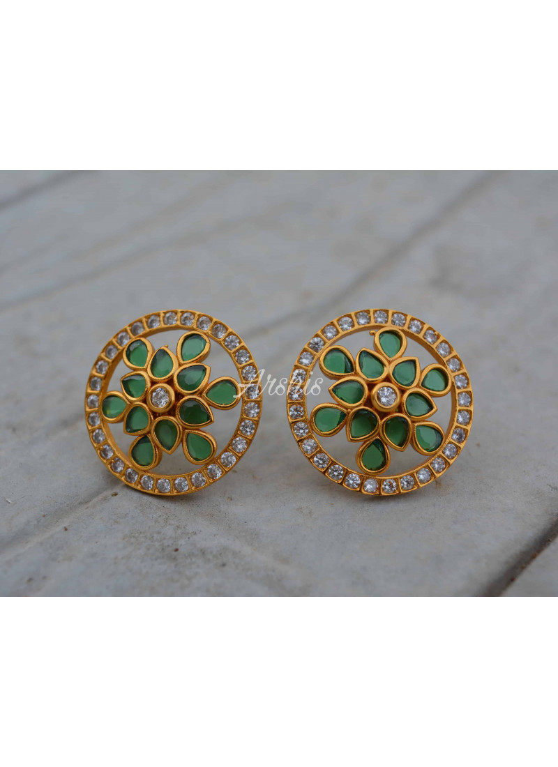 Grand Royal Kemp and Green Ear Studs