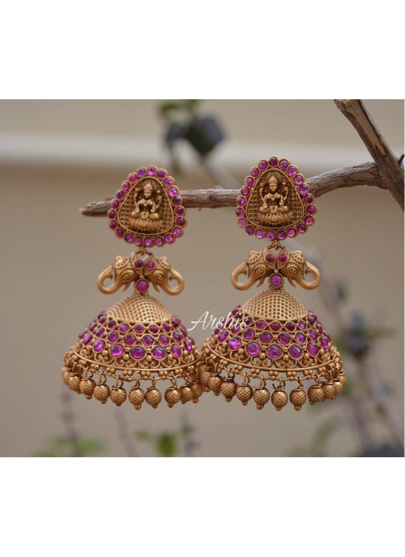 Exclusive Temple Lakshmi Jhumka