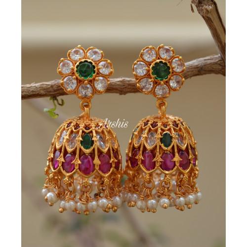 Sparkling Designer Antique Jhumka