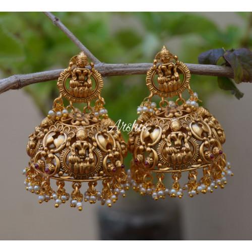 Grand Traditional Lakshmi Jhumka