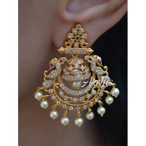 Latest Designer AD Stone Chandbali Earrings