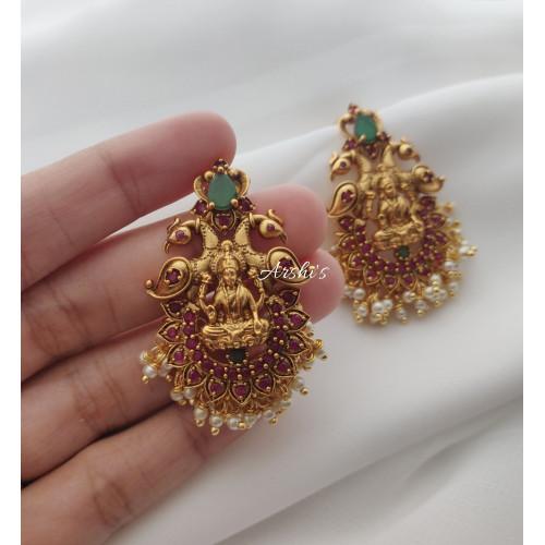 Lakshmi Peacock Earrings