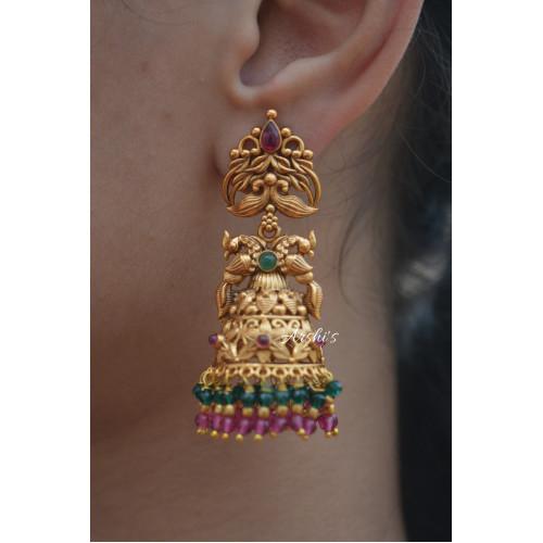 Grand Dual Peacock Earrings