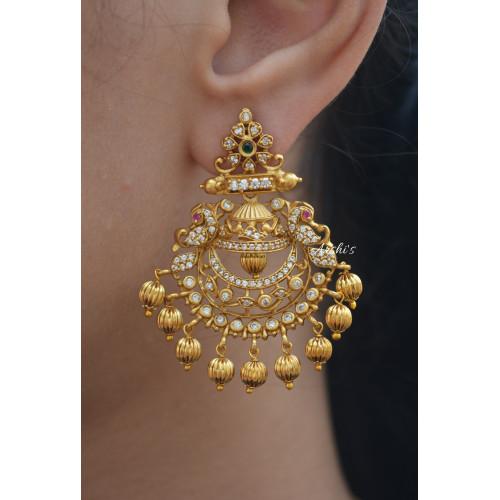 Beautiful AD Stone Chandbali Earrings