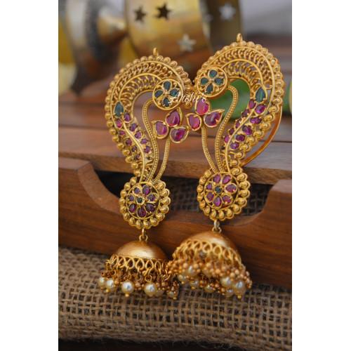 Bridal Real Kemp Ear Cuff Jhumka