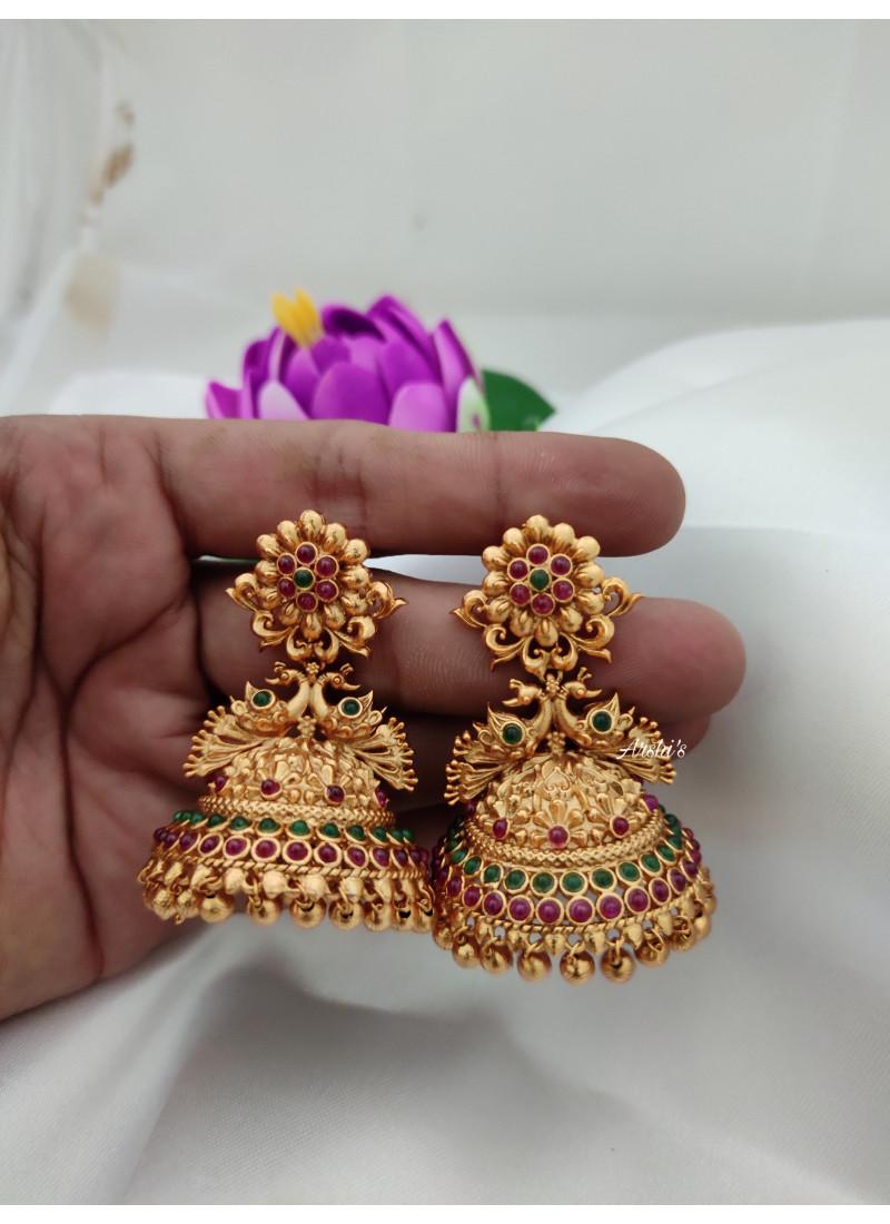 Designer Peacock Jhumkas