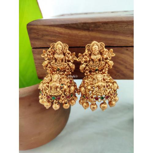 Elegant Bridal Lakshmi Broad Jhumka