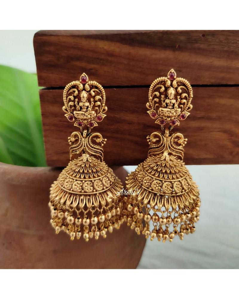 Long Gold Drops Lakshmi Jhumka