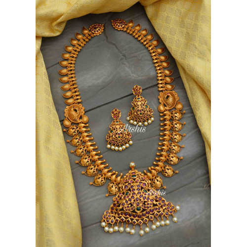 Mango Peacock Design Bridal Haram