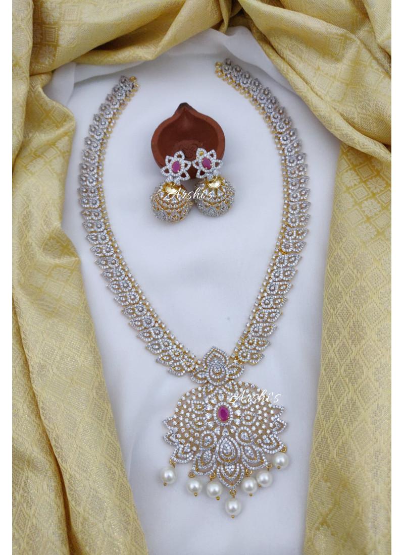 Diamond alike Flower AD Stone Brida..