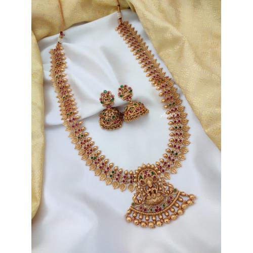 Gold Finish Lakshmi Coin Haram