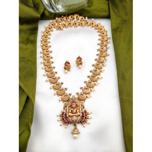 Peacock Chain AD Lakshmi Haram