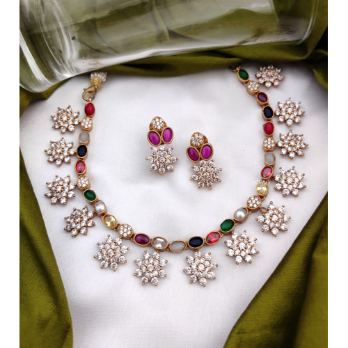 AD Navarathna Necklace Set