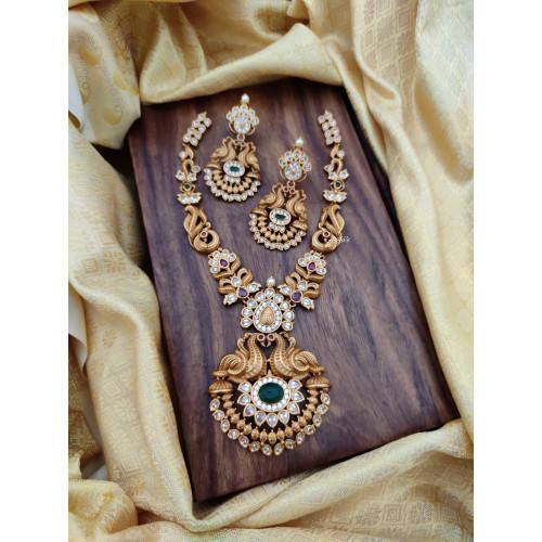 Elegant Peacock Necklace Set