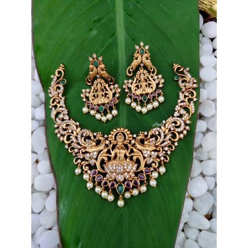Temple Lakshmi Choker Necklace