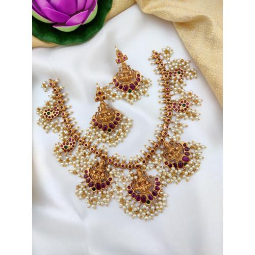 Lakshmi Guttapusalu Necklace Set