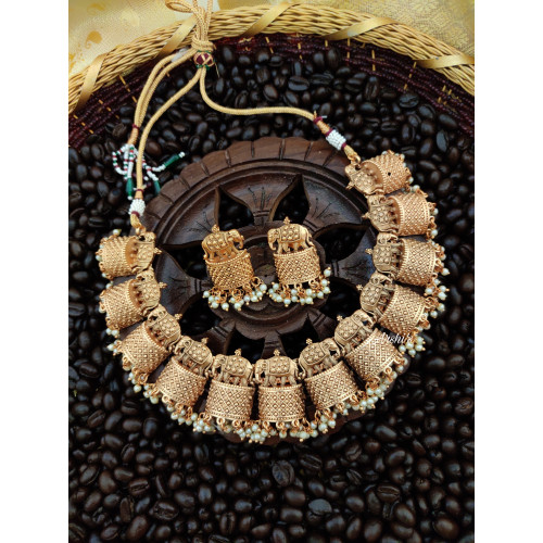 Trendy Elephant Necklace Set