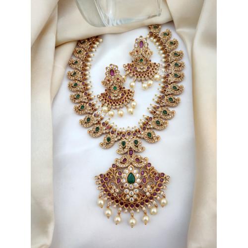 Traditional Bridal Mango Necklace Set